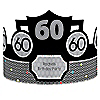 Adult 60th Birthday - Personalized Birthday Party Hats - 8 ct