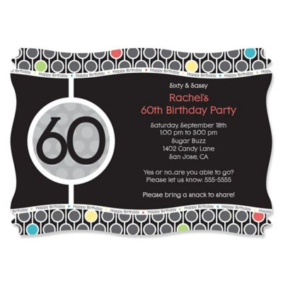 Adult Birthday Party Invitations BigDotOfHappinesscom