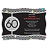 Adult 60th Birthday - Personalized Birthday Party Invitations