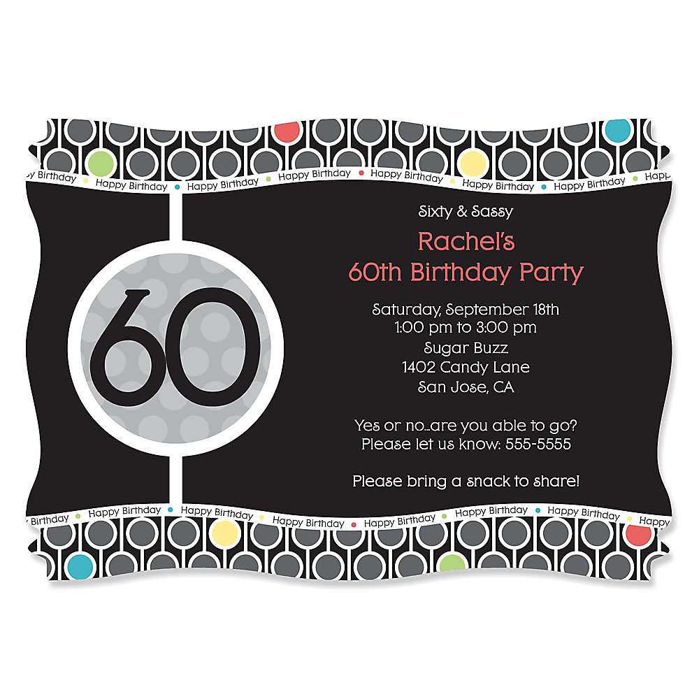 adult th birthday  personalized birthday party invitations, Birthday invitations
