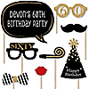 Adult 60th Birthday - Gold - 20 Piece Photo Booth Props Kit