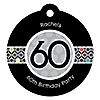 Adult 60th Birthday - Round Personalized Birthday Party Tags - 20 ct