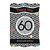 Adult 60th Birthday - Personalized Birthday Party Thank You Cards