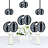 Adult 60th Birthday - Silver - Decorations DIY Party Essentials - Set of 20