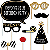 Adult 70th Birthday - Gold - 20 Piece Photo Booth Props Kit