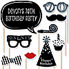 Adult 70th Birthday - Silver - 20 Piece Photo Booth Props Kit