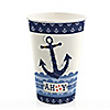 Ahoy - Nautical - Baby Shower Hot/Cold Cups - 8 ct