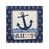 Ahoy - Nautical - Baby Shower Beverage Napkins - 16 Pack