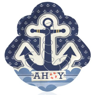 Ahoy   Nautical   Baby Shower Dinner Plates   8 Ct