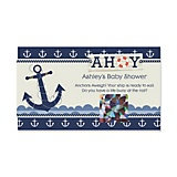 Ahoy - Nautical - Personalized Baby Shower Scratch Off Cards - 22 ct