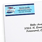Airplane - Personalized Baby Shower Return Address Labels - 30 ct