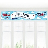 Airplane - Personalized Baby Shower Banner