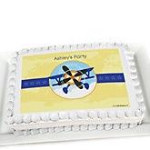 Airplane - Personalized Baby Shower Cake Image Topper