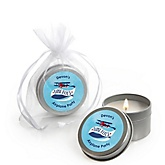 Airplane - Candle Tin Personalized Baby Shower Favors