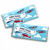 Airplane - Personalized Baby Shower Candy Bar Wrapper Favors
