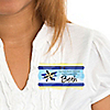 Airplane - Personalized Baby Shower Name Tag Stickers - 8 ct