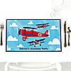 Airplane  - Personalized Baby Shower Placemats