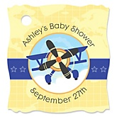 Airplane - Personalized Baby Shower Tags - 20 Count
