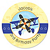 Airplane - Personalized Birthday Party Sticker Labels - 24 ct