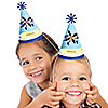 Airplane - Personalized Cone Birthday Party Hats - 8 ct