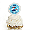 Airplane - Personalized Party Cupcake Picks and Sticker Kit - 12 ct