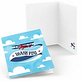 Airplane - Baby Shower Thank You Cards - Set of  8