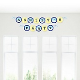 Airplane - Personalized Baby Shower Garland Banner