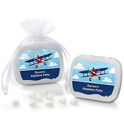 airplane mint tin personalized baby