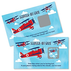 Airplane - Personalized Party Game Scratch Off Cards - 22 ct