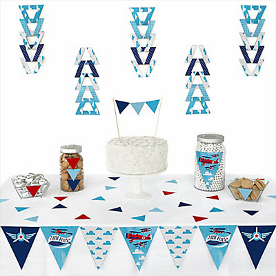 airplane baby shower triangle decoration kits