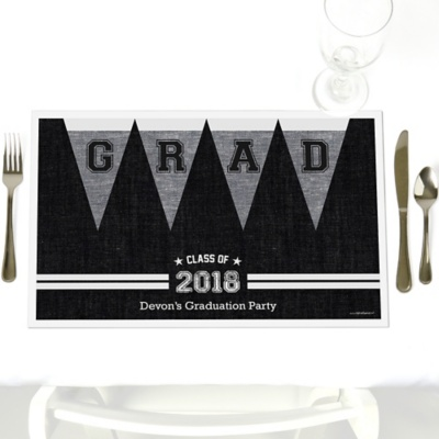 graduation paper placemats Personalized paper placemats and custom placemats for weddings, showers,   at a bridal shower, baby shower or graduation party the options are endless.