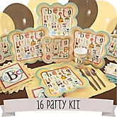 A is for Alphabet - 16 Person Baby Shower Kit