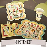 A is for Alphabet - 8 Person Baby Shower Kit