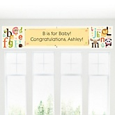 A is for Alphabet - Personalized Baby Shower Banner