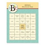 Baby shower bingo cards, personalized