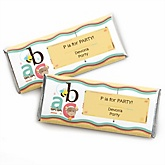 A is for Alphabet - Personalized Baby Shower Candy Bar Wrapper Favors