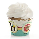 A is for Alphabet - Baby Shower Cupcake Wrappers