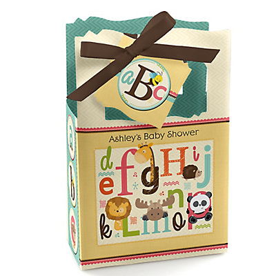 A is for Alphabet - Personalized Baby Shower Favor Boxes...