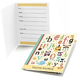 A is for Alphabet - Fill In Baby Shower Invitations - Set of  8