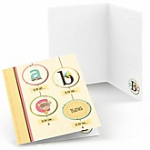 A is for Alphabet - Baby Shower Thank You Cards - 8 ct