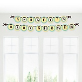 A is for Alphabet - Personalized Baby Shower Garland Banner