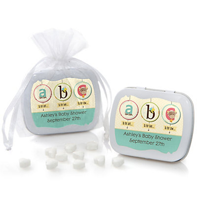 A is for Alphabet - Mint Tin Personalized Baby Shower Favors...