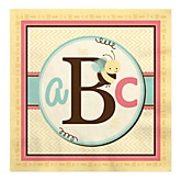 A is for Alphabet - Baby Shower Luncheon Napkins - 16 Pack