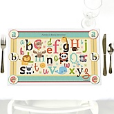 A is for Alphabet - Personalized Baby Shower Placemats