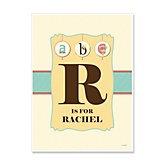 A is for Alphabet - Personalized Baby Shower Poster Gifts