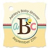 A is for Alphabet - Personalized Baby Shower Tags - 20 Count