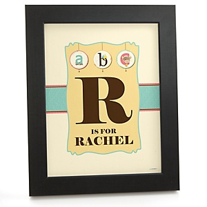 A is for Alphabet - Personalized Nursery Wall Art Gift