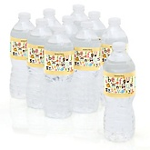 A is for Alphabet - Personalized Party Water Bottle Sticker Labels - Set of 10