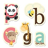 A is for Alphabet - Shaped Baby Shower Paper Cut-Outs - 24 ct