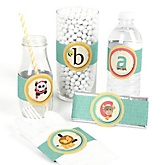 A is for Alphabet - Do It Yourself Baby Shower Wrappers - 15 Count